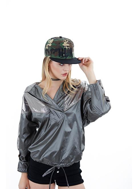Laslusa Run Hip Hop Snapback Şapka Haki